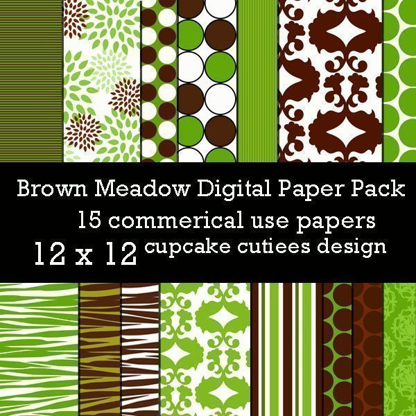 Brown Meadow Papers  Cupcake Cutiees    Mygrafico