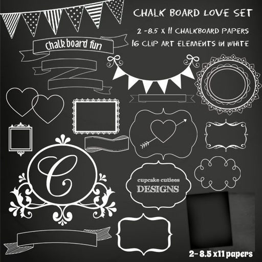 Chalkboard Frames and Paper Set