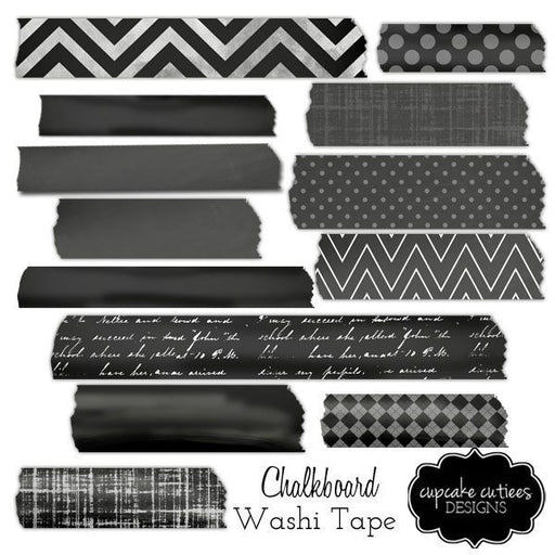 Chalkboard Washi Digital Tape clipart Cupcake Cutiees    Mygrafico