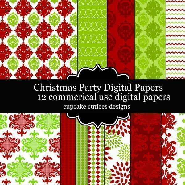 Christmas Party Papers  Cupcake Cutiees    Mygrafico