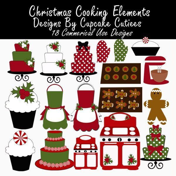 Christmas Cooking N Baking Elements  Cupcake Cutiees    Mygrafico