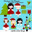Christmas Cute Girls Cliparts Cupcake Cutiees    Mygrafico