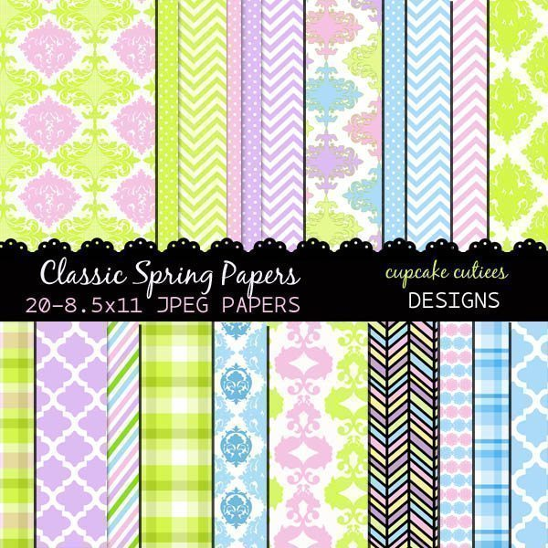 Classic Spring Papers  Cupcake Cutiees    Mygrafico