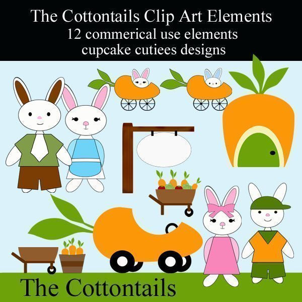 The Cottontails  Cupcake Cutiees    Mygrafico