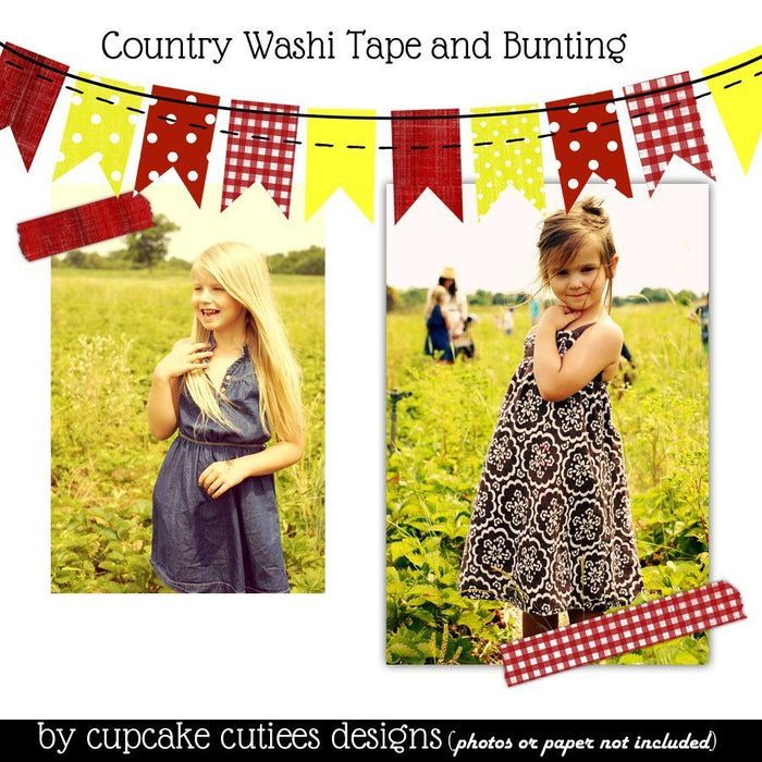 Country Days Bundle Pack Digital Papers and Clip art  Cupcake Cutiees    Mygrafico