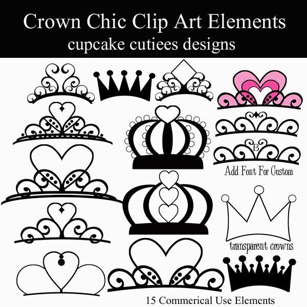 Crown Chic Elements  Cupcake Cutiees    Mygrafico