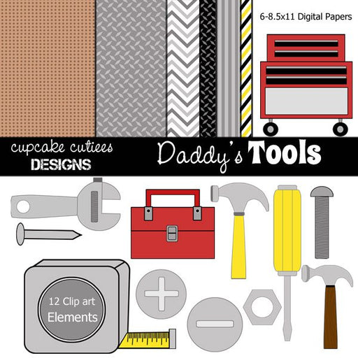 Daddy's Tools and Papers  Cupcake Cutiees    Mygrafico