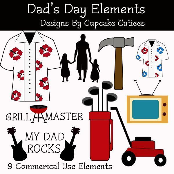 Dad's Day Elements  Cupcake Cutiees    Mygrafico