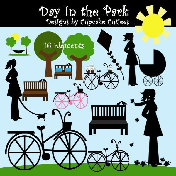 Day In the Park Elements  Cupcake Cutiees    Mygrafico
