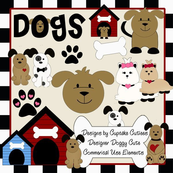 Doggy Cute Designer Elements  Cupcake Cutiees    Mygrafico