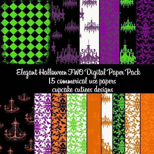 Elegant Halloween Papers 2  Cupcake Cutiees    Mygrafico