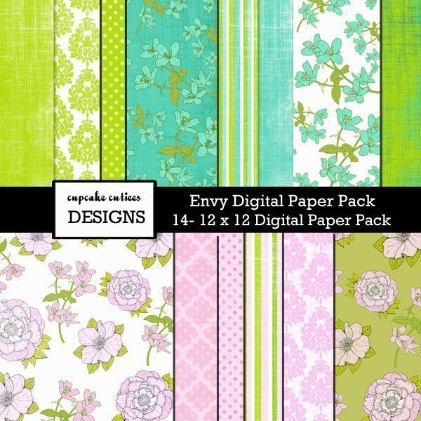 Envy Paper Pack  Cupcake Cutiees    Mygrafico
