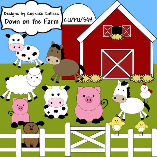 Down on the Farm Elements  Cupcake Cutiees    Mygrafico
