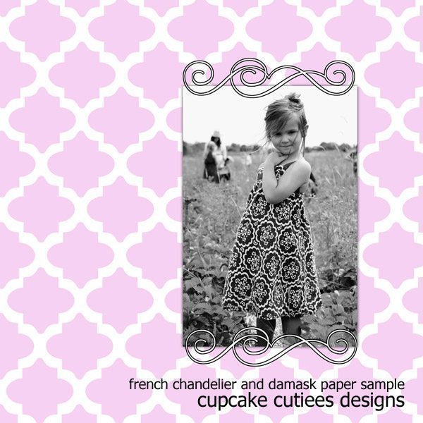 French Chandelier Tags and Frames  Cupcake CutieesCupcake Cutiees    Mygrafico