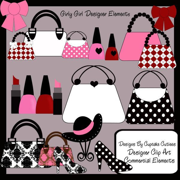 Girl Glamour Designer Elements  Cupcake Cutiees    Mygrafico