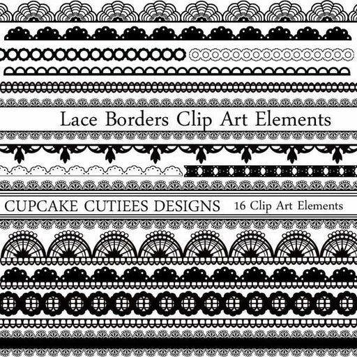 Lace Borders Clipart Elements