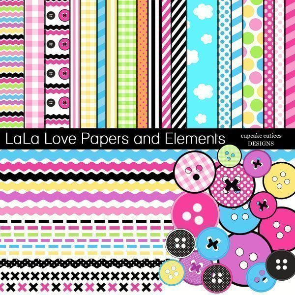 LaLa Love Papers and Elements  Cupcake Cutiees    Mygrafico