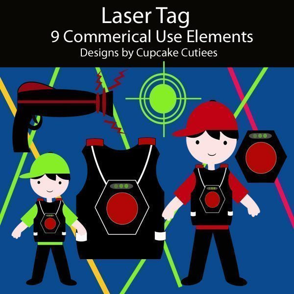 Laser Tag Elements  Cupcake Cutiees    Mygrafico