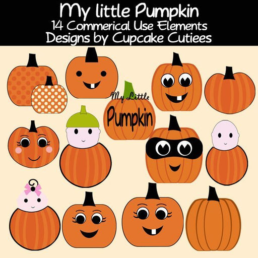Little Pumpkin Elements  Cupcake Cutiees    Mygrafico
