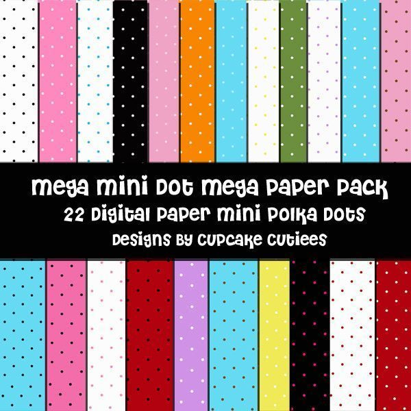 Mega Mini Dot Paper Pack  Cupcake Cutiees    Mygrafico