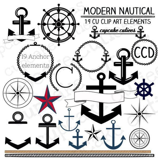 Nautical Mod  Cupcake Cutiees    Mygrafico