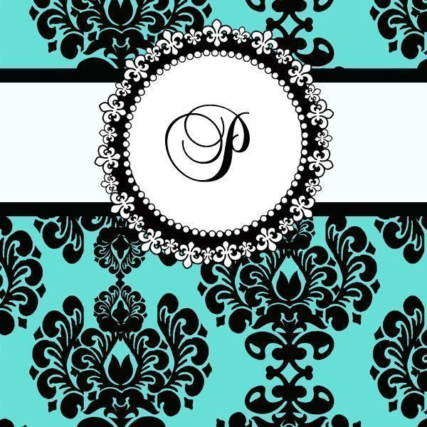Monogram Chic Tags in White  Cupcake Cutiees    Mygrafico