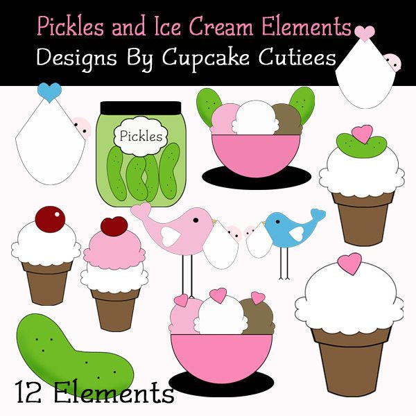 Pickles and Ice Cream  Cupcake Cutiees    Mygrafico