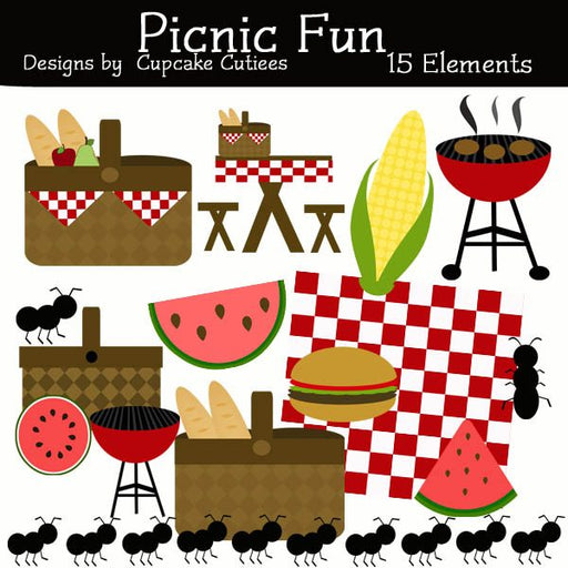 Picnic Reunion Elements  Cupcake Cutiees    Mygrafico