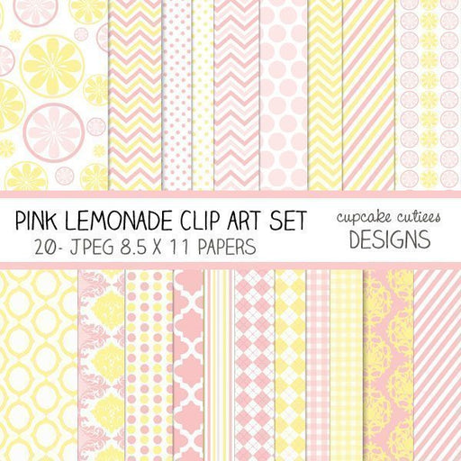 Pink Lemonade Papers  Cupcake Cutiees    Mygrafico