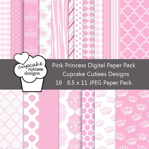 Pink Princess Papers  Cupcake Cutiees    Mygrafico