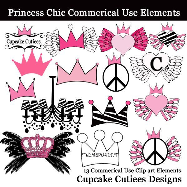 Princess Chic Elements  Cupcake Cutiees    Mygrafico