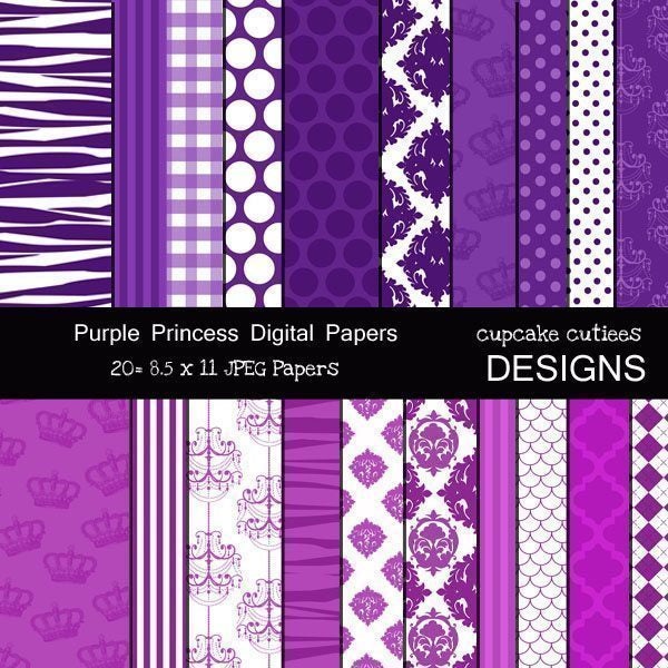 Purple Princess Papers  Cupcake Cutiees    Mygrafico