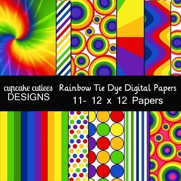 Tie Dye Papers  Cupcake Cutiees    Mygrafico