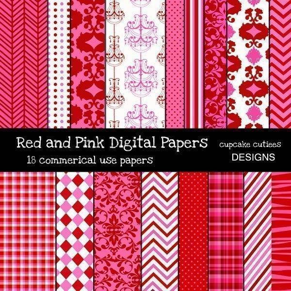 Red and Pink Papers  Cupcake Cutiees    Mygrafico