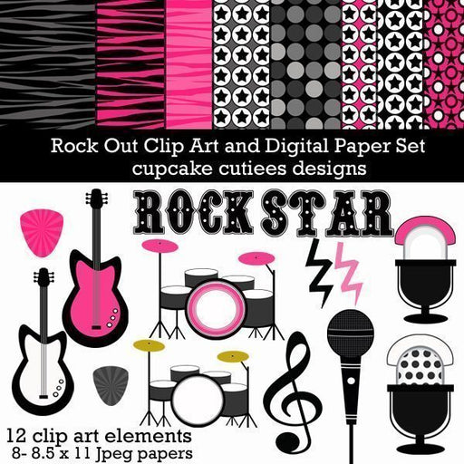 Rock Out Elements and Papers  Cupcake Cutiees    Mygrafico