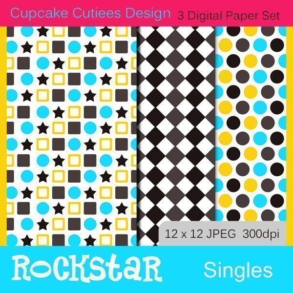 Rockstar Papers Digital Papers & Backgrounds Cupcake Cutiees    Mygrafico
