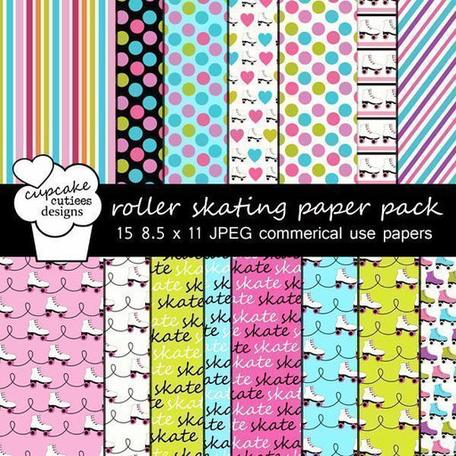 Roller Skate Papers  Cupcake Cutiees    Mygrafico