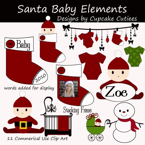 Santa Baby Elements  Cupcake Cutiees    Mygrafico