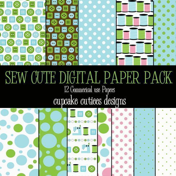 Sew Cute Papers  Cupcake Cutiees    Mygrafico
