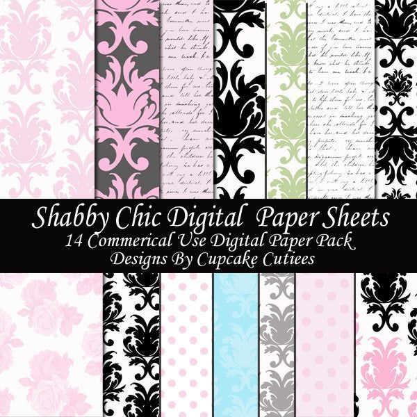 Chic Shabby Papers  Cupcake Cutiees    Mygrafico