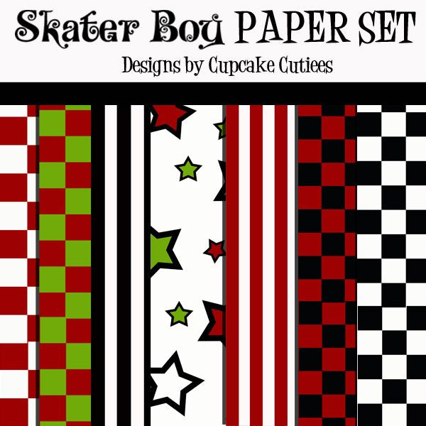 Skater Boy Papers  Cupcake Cutiees    Mygrafico