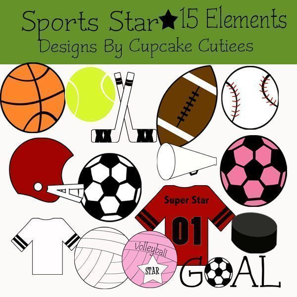 Sports Star Designer Elements  Cupcake Cutiees    Mygrafico