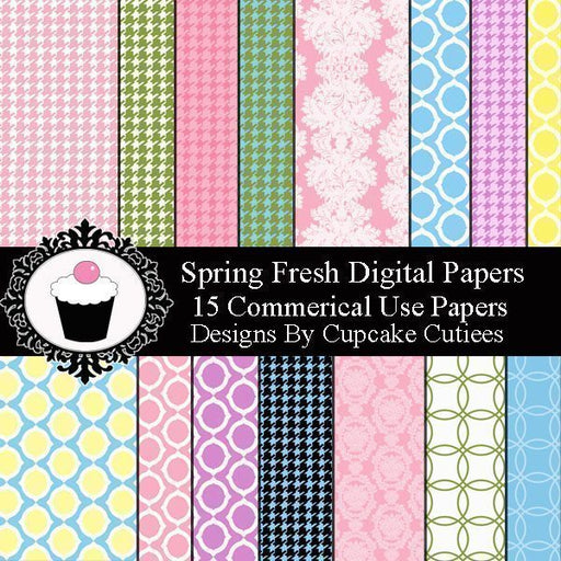 Fresh Spring Papers  Cupcake Cutiees    Mygrafico