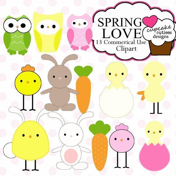 Spring Love Elements  Cupcake Cutiees    Mygrafico