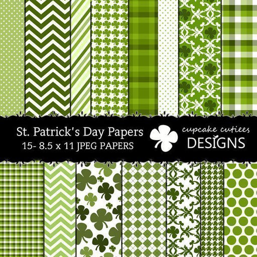 St. Patty's Papers  Cupcake Cutiees    Mygrafico
