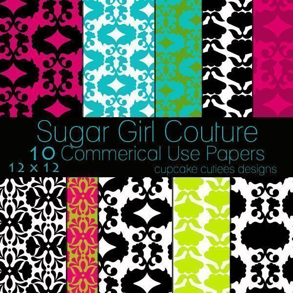 Sugar Girl Couture Papers  Cupcake Cutiees    Mygrafico