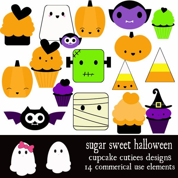 Sugar Sweet Halloween  Cupcake Cutiees    Mygrafico