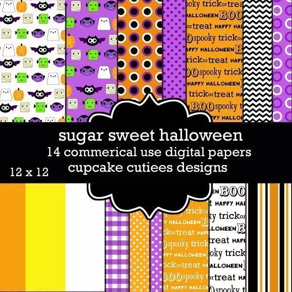 Super Sweet Halloween  Cupcake Cutiees    Mygrafico
