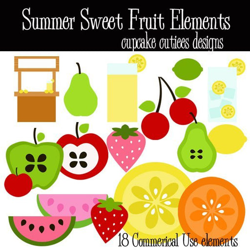 Summer Sweet Elements  Cupcake Cutiees    Mygrafico