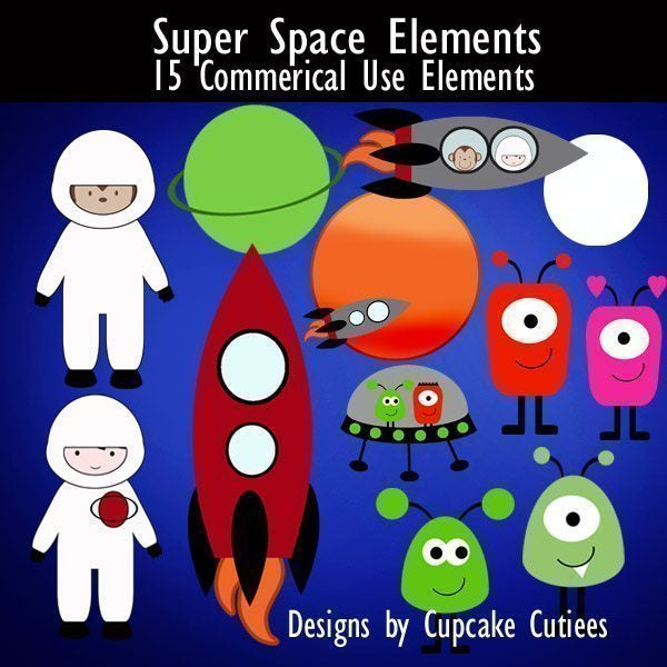 Super Space Elements  Cupcake Cutiees    Mygrafico
